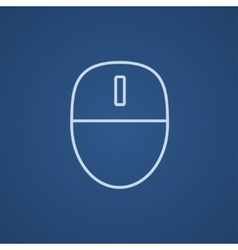 Computer mouse line icon vector