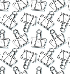 Binder clip sketch seamless pattern background vector