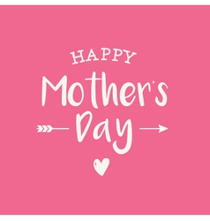 Mothers day card pink background vector