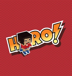 Great superhero mom vector