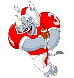 Football rhino vector