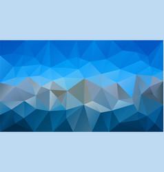 abstract irregular polygonal background sky blue vector image