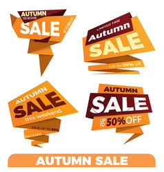 Autumn sale sale label price tag banner badge vector