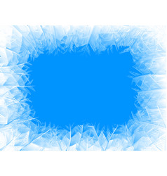 Blue frost frame vector