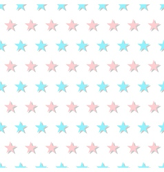 Blue pink star abstract white background vector
