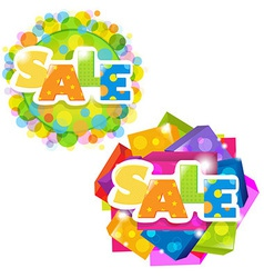 Bright Sale Posters Set vector image vector image