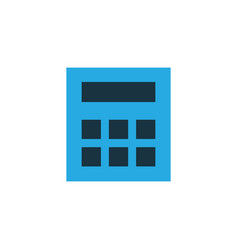 calculator colorful icon symbol premium quality vector image