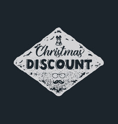 christmas discount lettering and typography vector image vector image