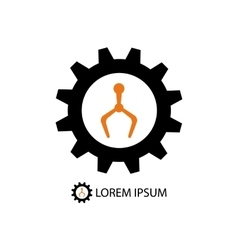 Color robot industry logo vector