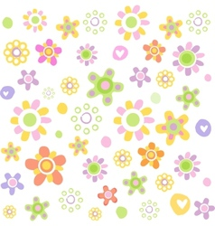 Cute floral ornament vector image vector image