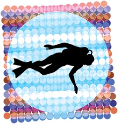 Diver vector image vector image
