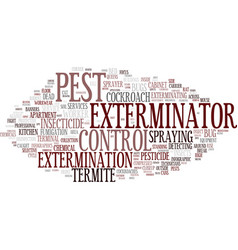 Extermination word cloud concept vector