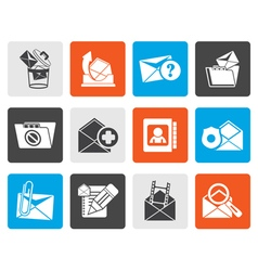 Flat e-mail and message icons vector