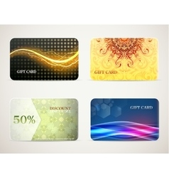 Gift card designs set vector