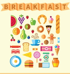 Good breakfast vector image vector image