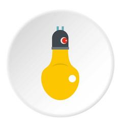 Lamp icon circle vector