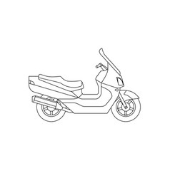 maxi scooter line drawing vector image