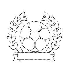 Soccer ball emblem sport banner vector