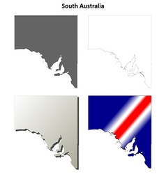 South Australia outline map set vector image vector image