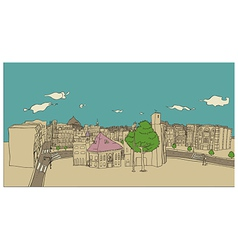 Stylized Townscape Sketch vector image vector image