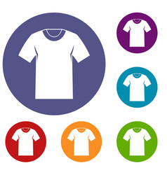 Tshirt icons set vector