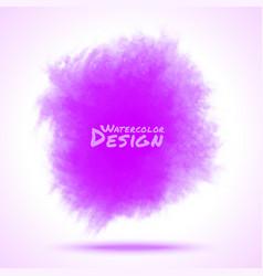 Violet watercolor splatter vector