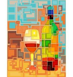 Wine mosaic vector