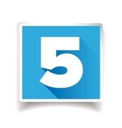 Number five label or number icon vector