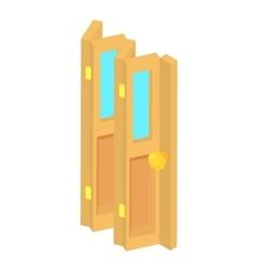 Door accordion icon cartoon style vector