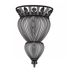 Classic chandelier vector