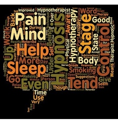 Hypnotherapy free your mind and soul text vector