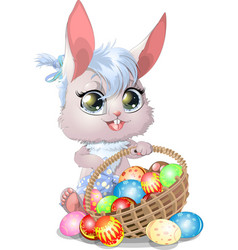 Beautiful easter bunny vector