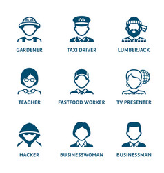 Profession icons set ii vector
