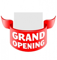 Grand opening ribbon vector