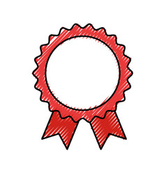 Seal with ribbon icon vector