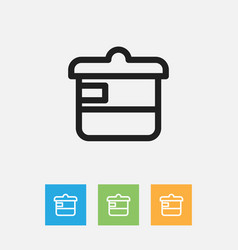 of food symbol on casserole vector image