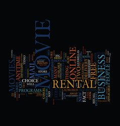 The new era in movie rentals text background word vector