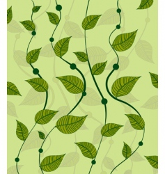 Pattern of vines green peas vector
