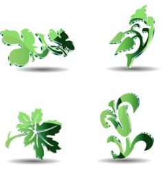 3d eco objects vector image