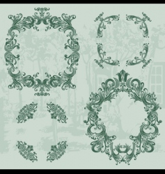 vintage ornaments set03 vector image