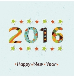 Stylized Happy New Year 2016 background vector image