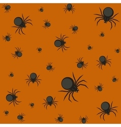 Halloween pattern with spiders vector