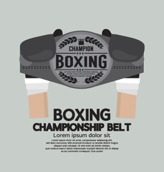 Boxing championship belt vector
