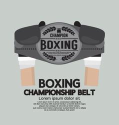 Boxing Championship Belt vector image