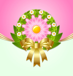 Wreath spring decoration vector