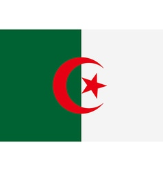 Flag of algeria vector