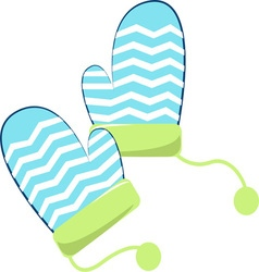 Winter mittens vector