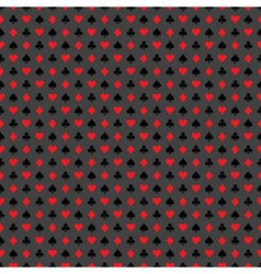 seamless casino pattern with playing card symbols vector image