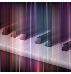 Abstract blue music background with piano keys vector