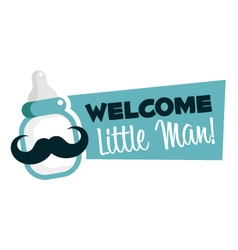 Baby shower greeting emblem vector